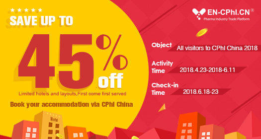 Book your accommodation via CPhI China, save up to 45% Off