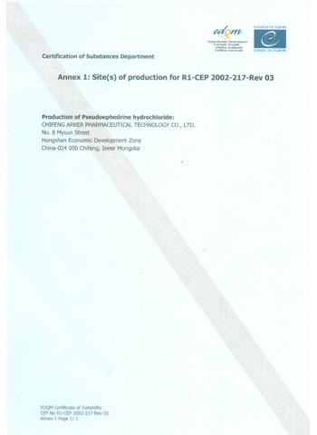 CEP Certificate