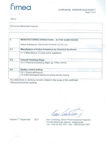 Europe GMP Certificate