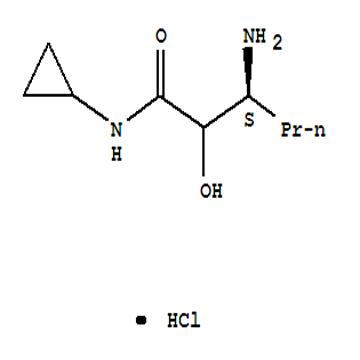 (3S)-3-amino-N-cyclopropyl-2-hydroxyhexanamide HCL