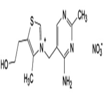 Thiazolium, 3-[(4-amino-2-methyl-5-pyimidinyl) methyl]-5-(2-hydroxyethyl)-4-methyl, nitrate (sate)