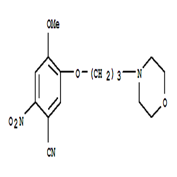 4-methoxy-5-(3-morpholinopropoxy)-2-nitrobenzonitrile