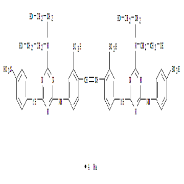 Benzenesulfonic acid,2,2'-(1,2-ethenediyl)bis[5-[[4-[bis(2-hydroxyethyl)amino]-6-[(4-sulfophenyl)ami