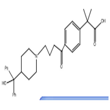 Methyl-4-4(4-hydroxy diphenyl-methyl)-piperidine-1-oxobutyl-2-2-dimethyl phenyl acetic acid