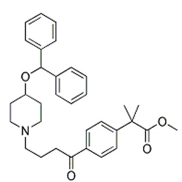 METHYL 2-(4-[4-(4-BENZHYDRYLOXY-PIPERIDIN-1-YL)-BUTYRYL]-PHENYL)-2-METHYLPROPIONATE