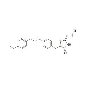 [5-[[4-[2-(5-Ethyl-2-pyridinyl)ethoxy]phenyl]methyl]-2,4-] thiazolidinedione hydrochloride