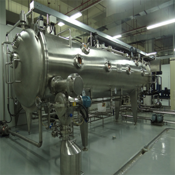 The vacuum continuous belt drier in low temperature