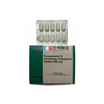 paracetamol&diclofenac potassium tablets 550mg