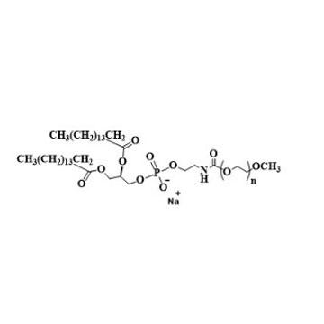 N-(Carbonyl-methoxypolyethylene glycol)-1,2-dipalmitoyl-sn-glycero-3-phosphoethanolamine, sodium sal