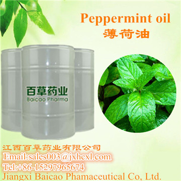 Factory Wholesale pure  Pepperment oil with GMP Certificated