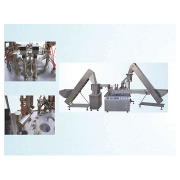 Easy folding plastic vial liquid filling capping machine