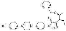 2-[(1S,2S)-1-ethyl-2-bezyloxypropyl]-2,4-dihydro-4-[4-[4-(4-hydroxyphenyl)-1-piperazinyl]phenyl]- 3H