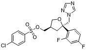 4-Chloro-benzenesulfonic acid 5-(2,4-difluoro-phenyl)-5-[1,2,4]triazol-1-ylMethyl-tetrahydro-furan-3