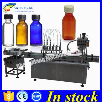 Hot sale pharmaceutical liquid filling complete line,syrup bottle filling machine 60ml