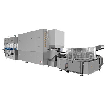 ALXIII-XII Ampoule Ultrasonic Washing-Drying-Filling-Sealing Production Line (two units of filling-s