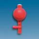 Pipette filler, natural rubber, with 2 valves, standard