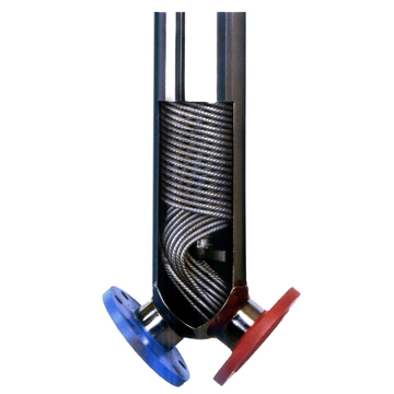 JAD series thread winding spiral heat exchanger