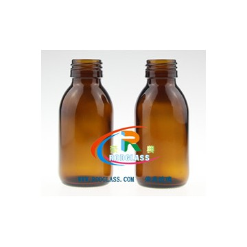 amber glass bottle for syrup,100ml 28mm