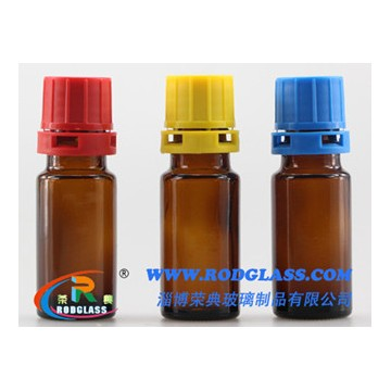 10ml amber reagent glass bottle for liquids