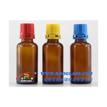 30ml amber reagent glass bottle for liquids