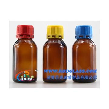 125ml amber reagent glass bottle for liquids