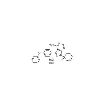 (R)-3-(4-phenoxyphenyl)-1-(piperidin-3-yl)-1H-pyrazolo[3,4-d]pyrimidin-4-amine dihydrochloride