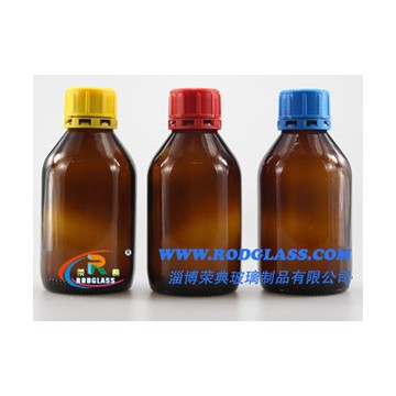 250ml amber chemical reagent glass bottle