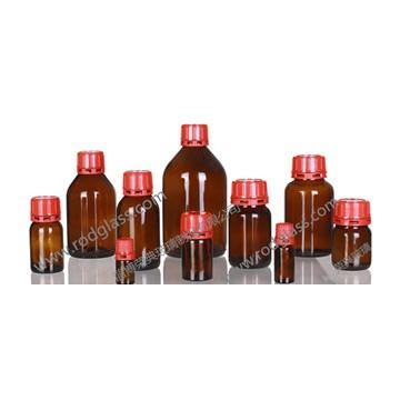 amber glass reagent bottle