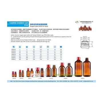 amber reagent glass bottle for liquids