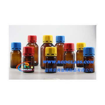 amber chemical reagent glass bottle