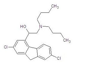2,7-Dichloro-α-(Dibutylamino)methyl-9H-Fluorene-4-Methanol