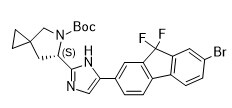 (6S)-6-[5-(7-Bromo-9,9-difluoro-9H-fluoren-2-yl)-1H-imidazol-2-yl]-5-azaspiro[2.4]heptane-5-carboxyl