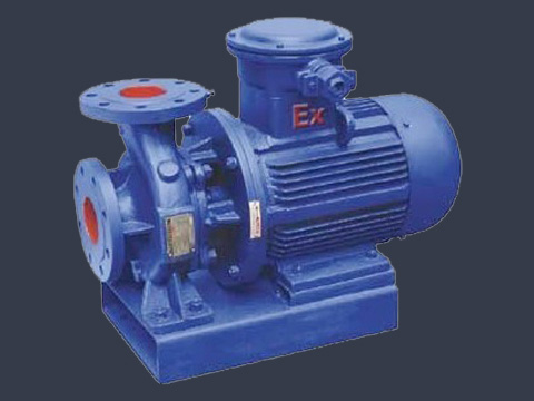 ISWB horizontal single stage single suction pump pipe explosion