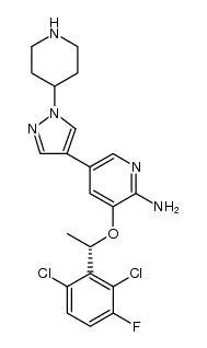 2-Pyridinamine, 3-[(1S)-1-(2,6-dichloro-3-fluorophenyl)ethoxy]-5-[1-(4-piperidinyl)-