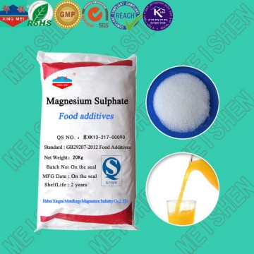food grade magnesium sulfate MgSO4.7H2O