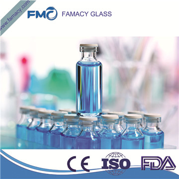 glass vial 4ml/4R clear glass vial borosilicate glass type 1 glass