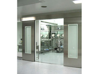 Flat frame type steel sealed door