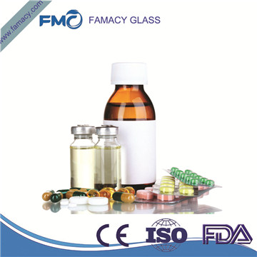 20ml/20R clear/amber borosilicate glass vials for injection