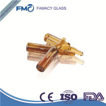 10ml/10R clear/amber formB/C pharmaceutical glass ampuls for injection borosilicate glass