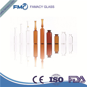20ml/20R clear/amber formB/C pharmaceutical glass ampuls for injection borosilicate glass