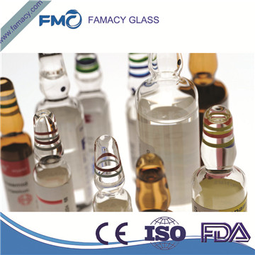 30ml/30R clear/amber formB/C pharmaceutical glass ampuls for injection borosilicate glass