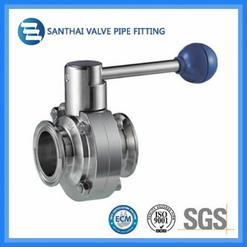 Sanitary Stainless Steel Clamp Type Butterfly Valve
