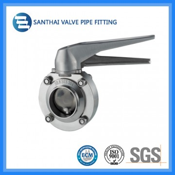 Sanitary Multi Position Handle Butterfly Valve