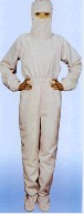 Antistatic back zipped FOUR-IN-ONE coverall (CLASS 10K)XS-9604