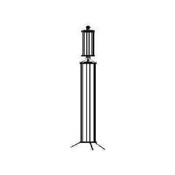Low and medium pressure glass column of protective column