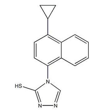 4-(4-cyclopropylnaphthalen-1-yl)-1H-1,2,4-triazole-5(4H)-thione