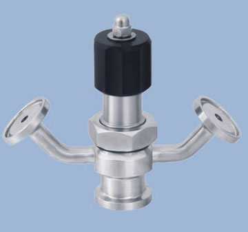 Manual aseptic sampling valve