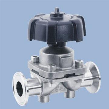 Sanitary diaphragm valve