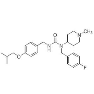1-(4-fluorobenzyl)-3-(4-isobutoxybenzyl)-1-(1-methylpiperidin-4-yl)urea