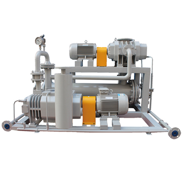 JZJQDP tri-lobe gas-cooled Roots/Screw vacuum pumping system